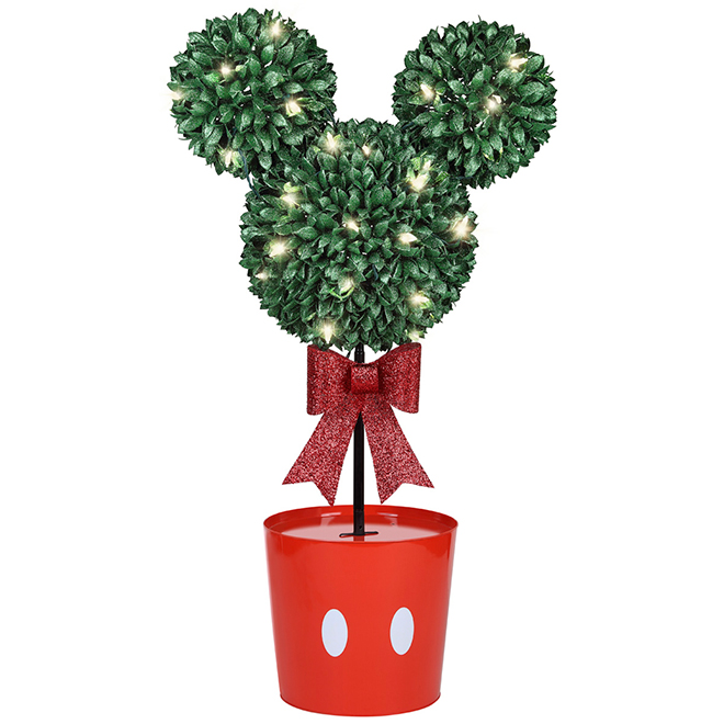 Disney Mickey LED-Lighted Artificial Topiary - 37-in