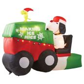 "Outdoor Inflatable Snoopy - 6' 9"" - Red/Green"
