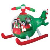 Inflatable Animated Penguins Helicopter - 5.3' - Multicolour