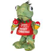 Iguane jouant des maracas, 10,25''