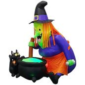 Gemmy - Inflatable Witch With Caudron - Polyester - 11.81-in x 11.81-in x 13.78-in