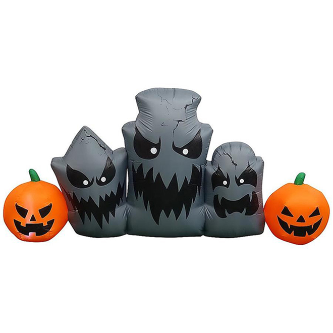 Gemmy Inflatable Tombstones - Polyester - 7.87-in x 7.87-in x 11.81-in