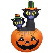 Gemmy Inflatable Cats With Hats - Polyester - 7.87-in x 7.87-in x 9.84-in