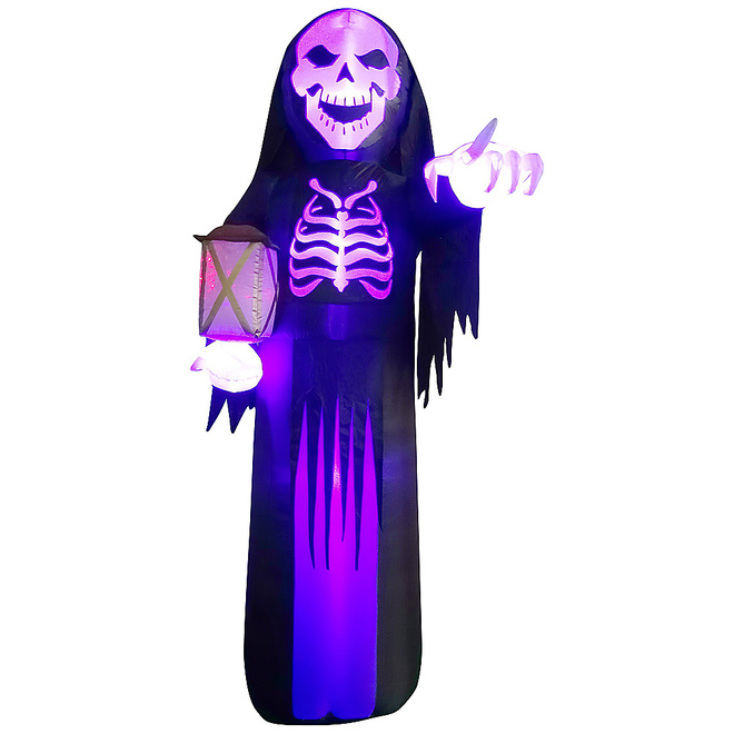 Gemmy Inflatable Skeleton Reaper Polyester - 11.81-in x 11.81-in x 11.81-in