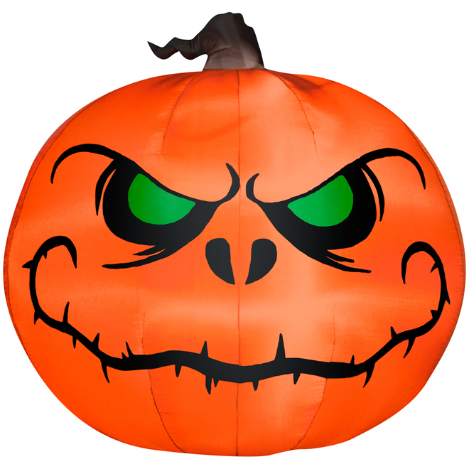 Gemmy Inflatable Pumkin Polyester - 7.87-in x 7.87-in x 9.84-in