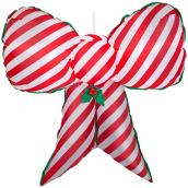Gemmy Inflatable Hanging Bow - Candy Cane