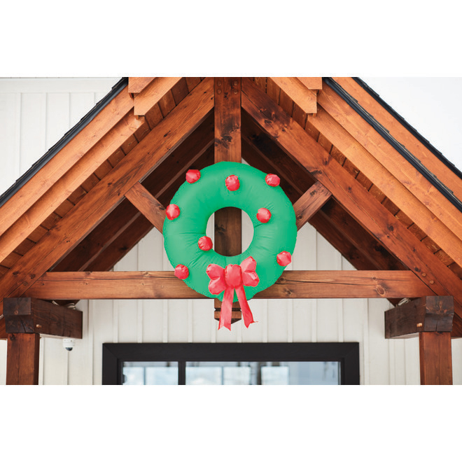 Gemmy Inflatable Hanging Wreath - Polyester