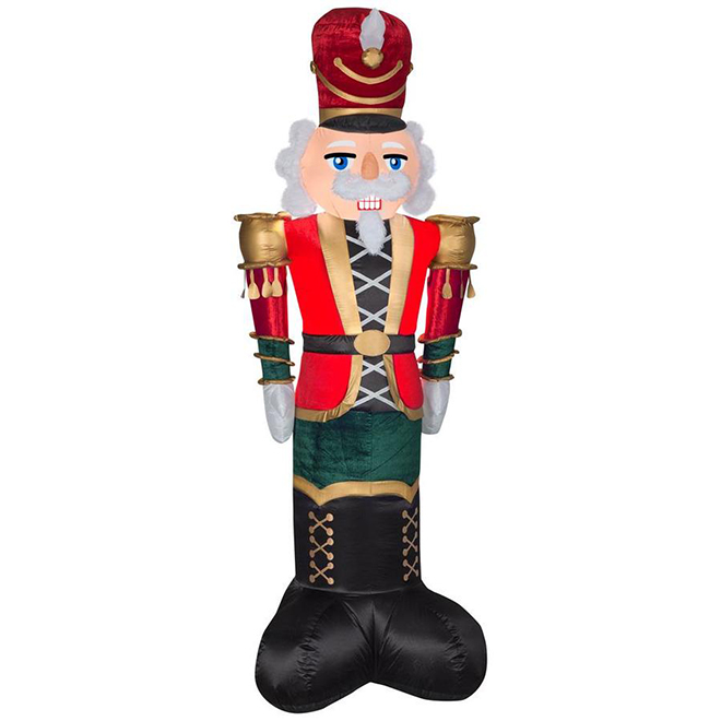 Gemmy Giant Inflatable Nutcracker - Deluxe