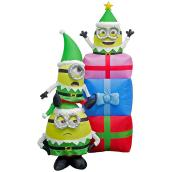 Gemmy Inflatable Minions with Gifts - Polyester