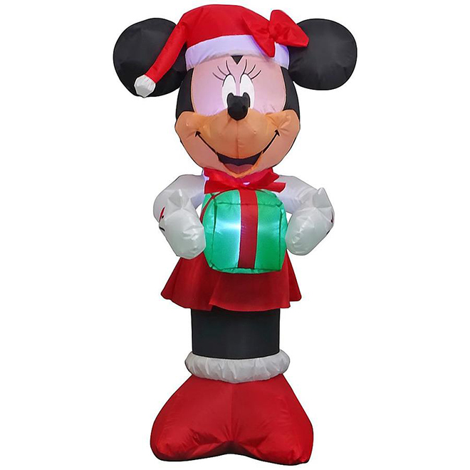 Disney Inflatable Minnie with Gift - Polyester