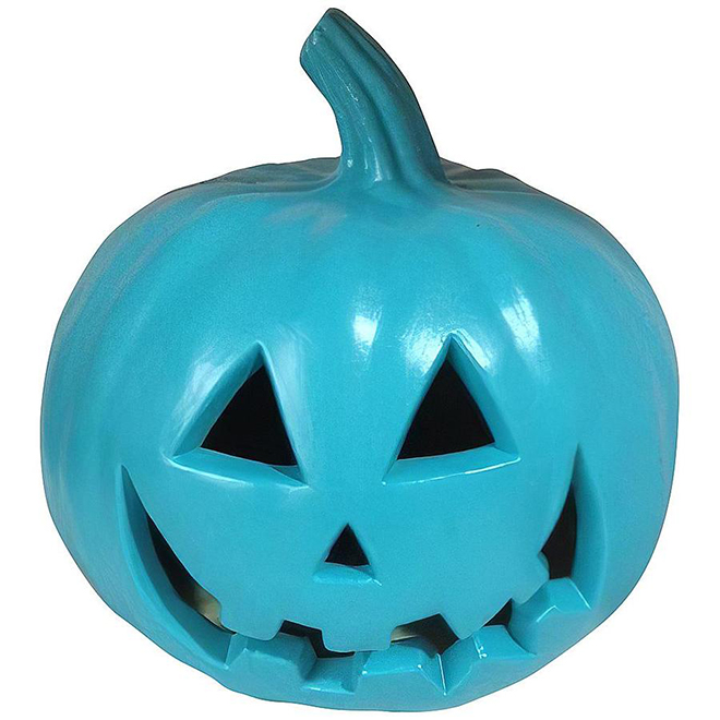 Holiday Living Jack-O Lantern 9-in - Teal
