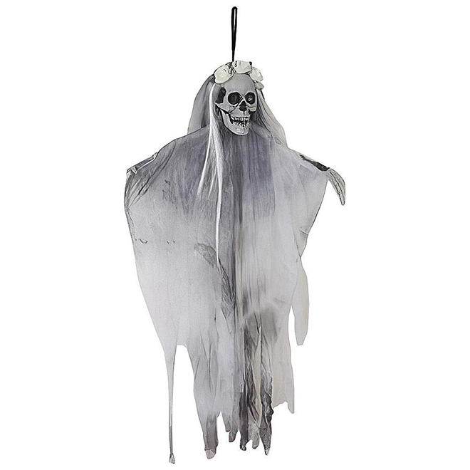 Holiday Living Hanging Skeleton - 4-ft - White, Grey and Black