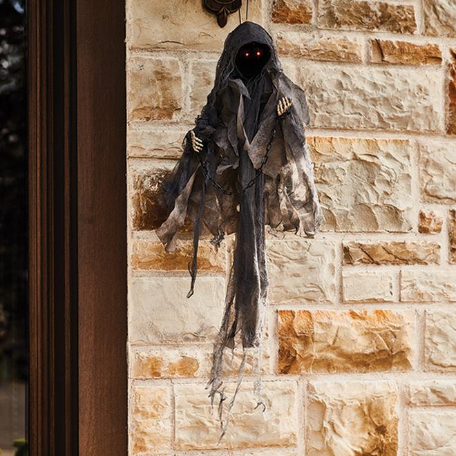 Décoration suspendue Holiday Living, fantôme sans visage, animé