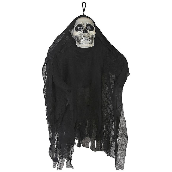 Holiday Living Shaking Skull with Sound - Black Fabric