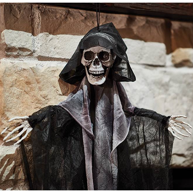 Holiday Living Hanging Reaper - 39-in - Black