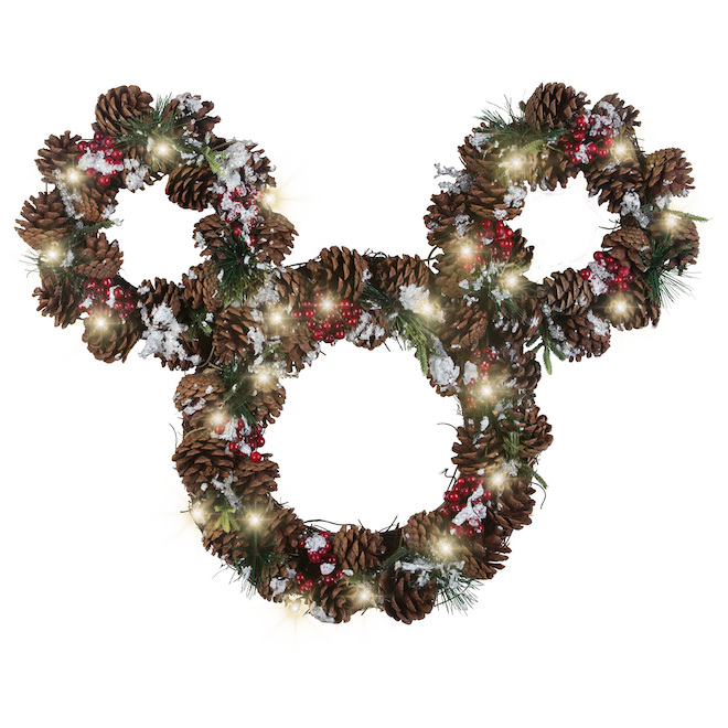 Disney - Mickey Mouse Wreath - Pinecone - 25-in