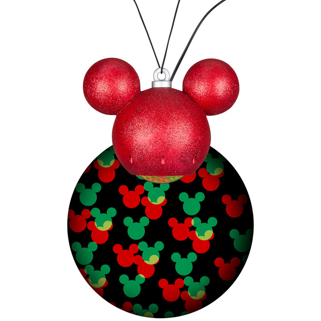 Disney Lightshow Projection MotionMosaic - Hanging Ornament - Mickey Mouse - 9-in