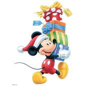Disney Wall Vinyl - Mickey with Stack of Presents - 18-in x 35.5-in - Multicolour