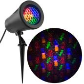 Gemmy Christmas Lightshow Projection Spotlight - Snowstorm - Candy - 12-in - Multicolour