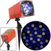 Gemmy Christmas Lightshow Projection Spotlight - SnowStorm - Snowflakes - 12-in - White/Blue