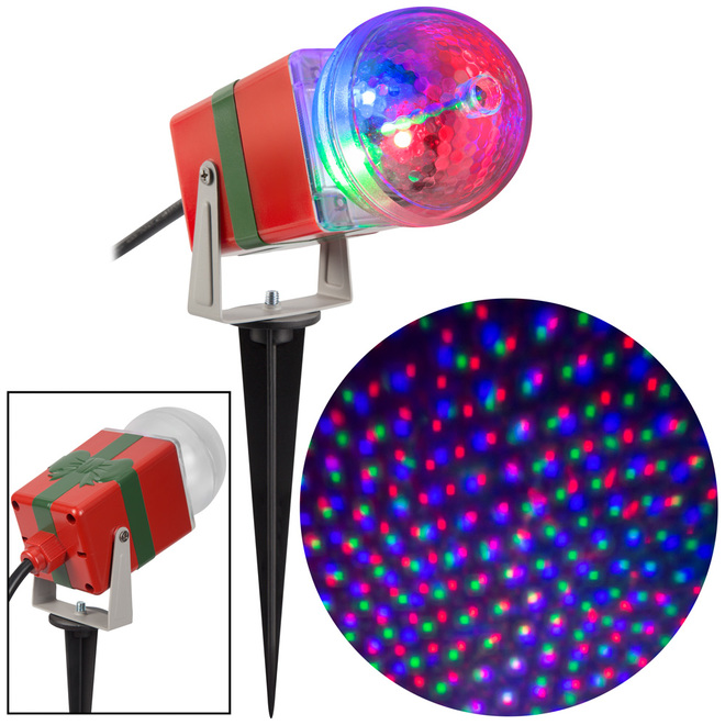 Gemmy Christmas Lightshow Projection Spotlight - StarSpinner - 10-in - Multicolour