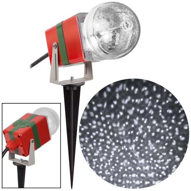 Gemmy Christmas Lightshow Projection Spotlight - StarSpinner - 10-in - White