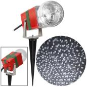Gemmy Christmas Lightshow Projection Spotlight - StarSpinner - 10-in - White