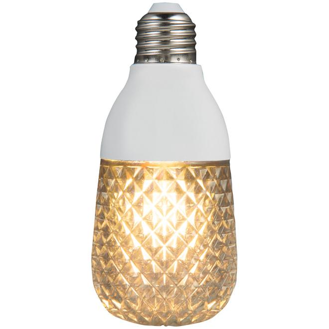 Ampoule style Edison de Gemmy, Diamond Sparkle, E26, plastique, blanc