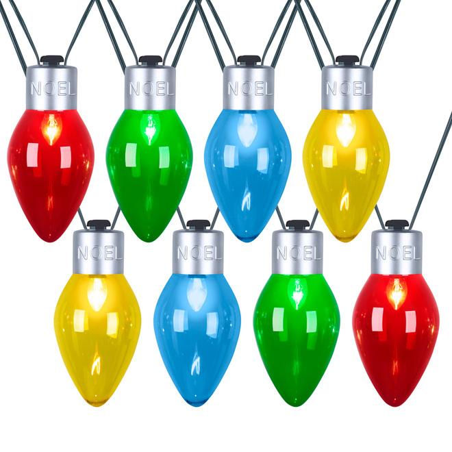 Gemmy Christmas String Lights - Giant Bulbs - C7 - Multicolour