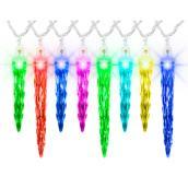Jeux de lumières de Noël ColorMotion Gemmy, 24 lumières, glaçons, 7 po/5 po, plastique, multicolore