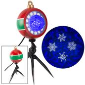 Gemmy Snowflurry Projector - 5.9-in x 5.7-in x 16.7-in - Blue/White