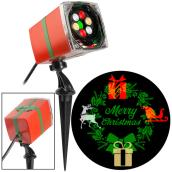 Gemmy Merry Christmas Projector - Wreath - 3.5-in x 5.1-in x 11.6-in