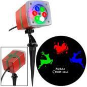 Gemmy Merry Xmas Projector - 3.38-in x 4.96-in x 11.7-in - Multi