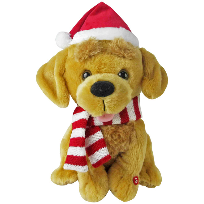 Gemmy Plush Animated Golden Retriever - 10.2-in