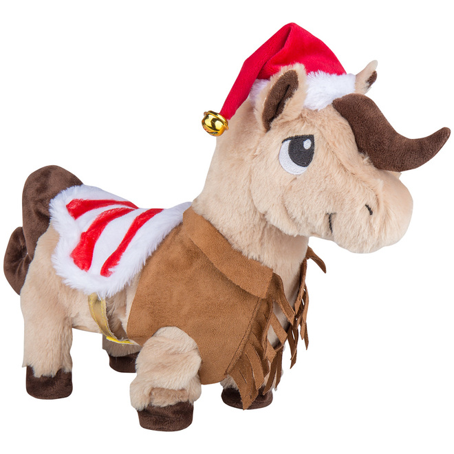 Gemmy Animated Plush Cowboy Horse - 15-in