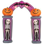 Arche gonflable Gemmy avec citrouilles effrayantes et squelettes, 8,5 pi