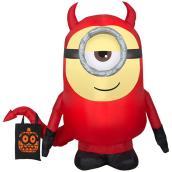 Stuart le Minion gonflable d'Universal déguisé en diable, 3,5 pi