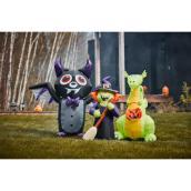Gemmy 6-ft Inflatable Vampire Bat with Purple Trim