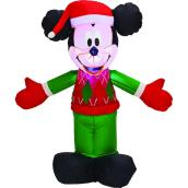 Gemmy 3.5-ft White Light Mickey Mouse in Winterwear Xmas Inflatable