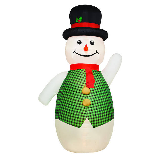 Gemmy 12.5-ft White Light Giant Snowman Xmas Inflatable
