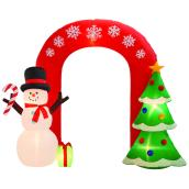 Gemmy 9-ft White Light Archway Christmas Inflatable