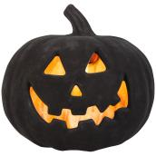 Holiday Living 9-in Indoor Lighted Jack-O'-Lantern Pumpkin