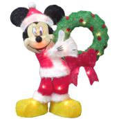 Disney 1-Pack Lighted Indoor/Outdoor Multicolor Wreath LED