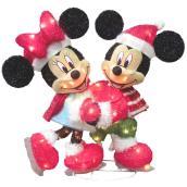 Disney Indoor/Outdooor Mickey-Minnie Skating with 80 Lights
