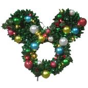Disney 1-Pack Mickey and Friends 24.8-in Indoor/Outdoor Electrical outlet Multicolor Wreath White Light LED