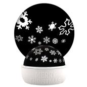 Gemmy Lightshow White Light LED Snowflake Tabletop Christmas Projector Indoor