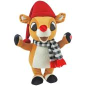 Gemmy 1-Pack Multicolor Animated Musical Retro Rudolph Plush