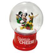 Disney 1-Pack Musical Mickey-Pluto Snow Globe