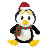 Holiday 1-Pack Living Multicolore Animated Musical Penguin Plush