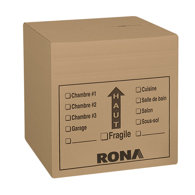 "Rona Corrugated Moving Boxes - 16"" x 16"" x 16"" - Pack of 6"